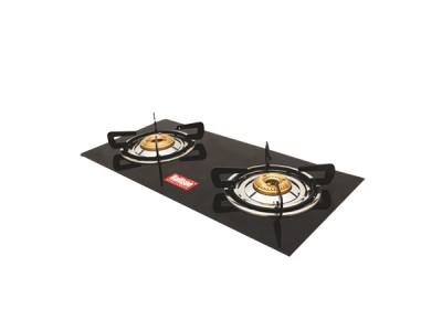 Rallison Grand Cute 2 Burner Glass Top (Black) Gas Stove