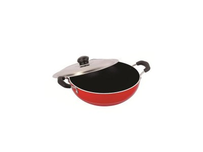 Nirlon Deep Kadai With Stainless Steel Lid  Medium (1.5L)