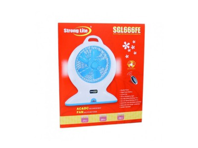 Strong Lite  AC&DC Rechargeable Fan 666